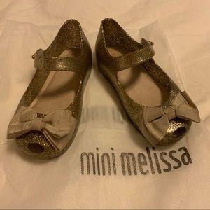 Glitter Gold/Silver Mini Melissa Mary Janes